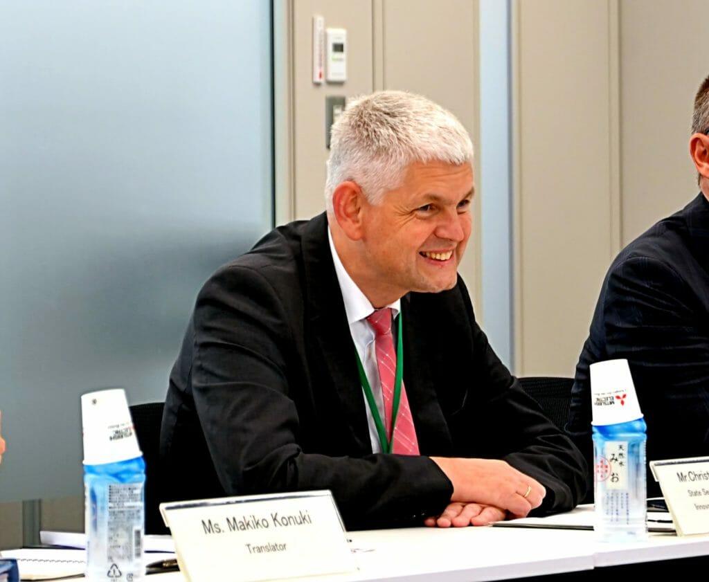 NRW-Staatssekretär Christoph Dammermann in Tokyo bei Mitsubishi Electric. 05.09.19