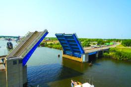 Schaltbare Kupplungen für Brücke über Grand River