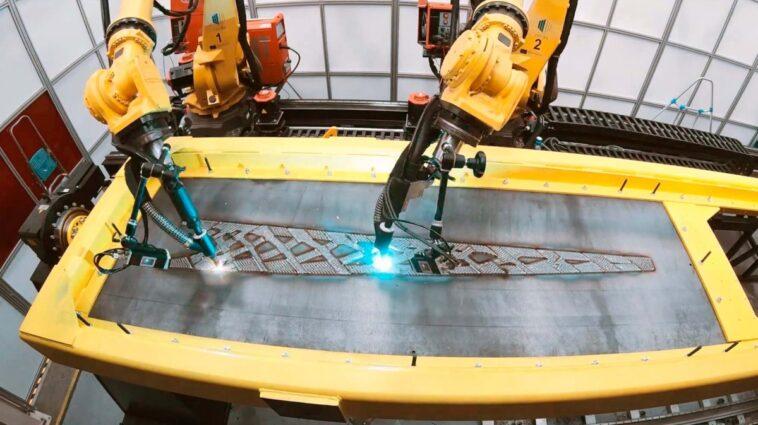 LASIMM für die Fertigung eines Stahl-Fachwerkträgers