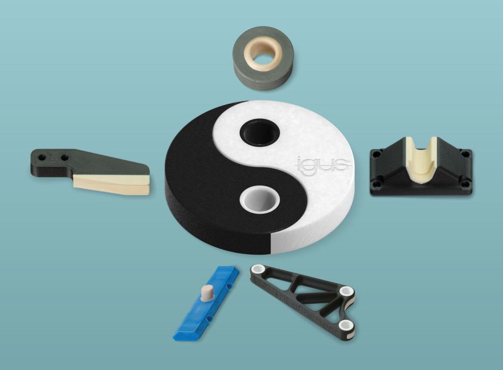 3D-Druck: Igus druckt jetzt 2-Komponenten-Bauteile