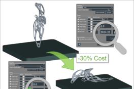 3D-Metalldruck mit Abschätzen der Druckkosten.