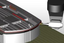 CAD/CAM-Software optmimiert das Kunststoff schneiden