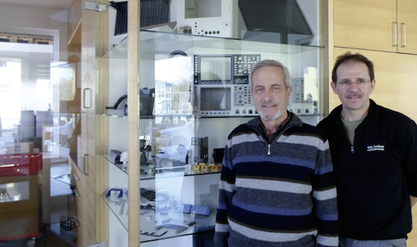 Links Firmengründer Franz Lechner, rechts Robert Haider – seit 2003 Kompagnon.