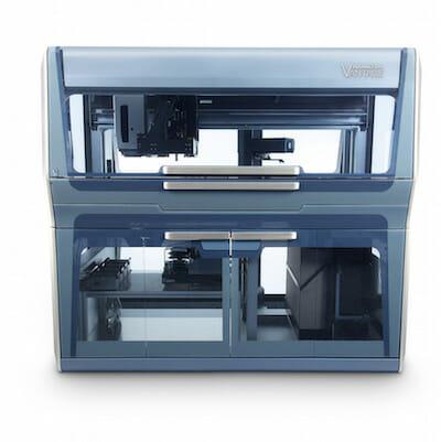 Das Vantage-Liquid-Handling-System von Hamilton mit Einzelkanälen sowie 96 oder 384 Mehrfachpipettierköpfen.