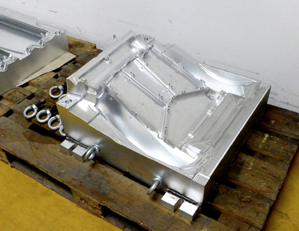 Schäumwerkzeug aus Aluminium für Autositze.