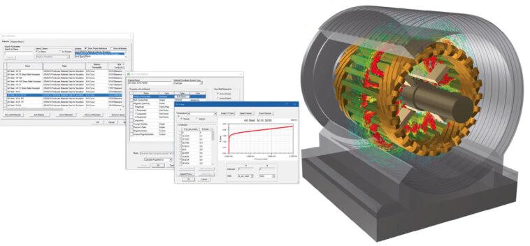Materialdaten für Simulation