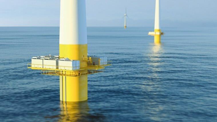 Grüner Wasserstoff aus Offshore-Windenergie.
