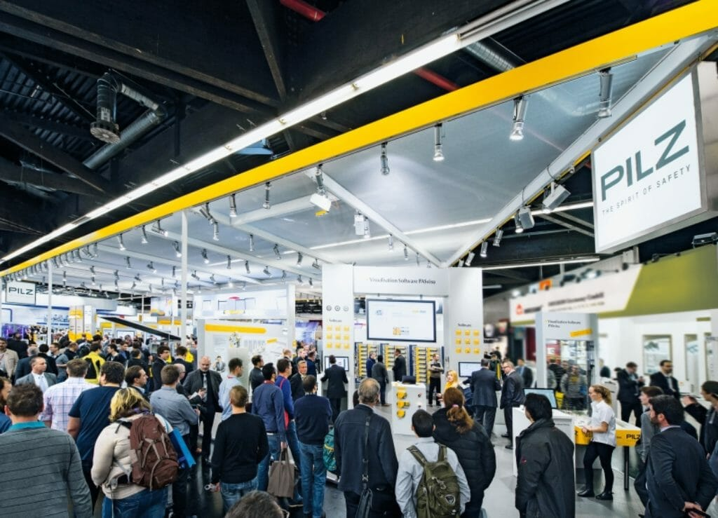 Pilz Messestand Hannover Messe
