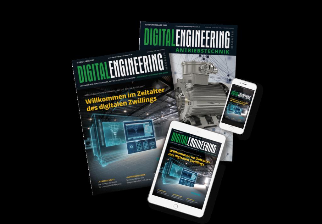 Digital Engineering Magazin als Print-Ausgabe sowie auf Tablet und Smartphone