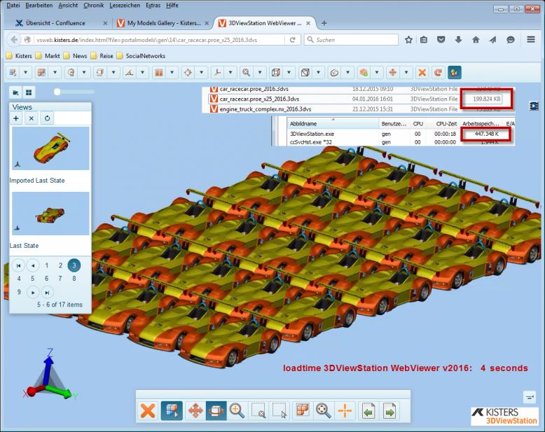 Der 3DViewStation WebViewer V2016 erleichtert die Handhabung und Analyse von sehr großen CAD-Modellen.
