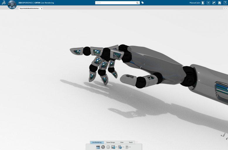 Darstellung eines digitalen Produktzwillings mit der 3DEXPERIENCE Plattform von Dassault Systèmes.