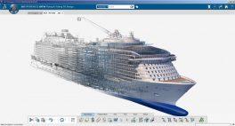 Computeranimation und Screenshot der neuen Software Catia V6