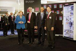 Merkel und Obama bei Rittal.